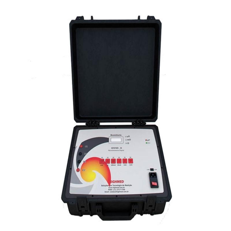 Microhmímetro Digital Portátil 200a Valor Estância - Microhmímetro e Ponte Kelvin Digital 10 a
