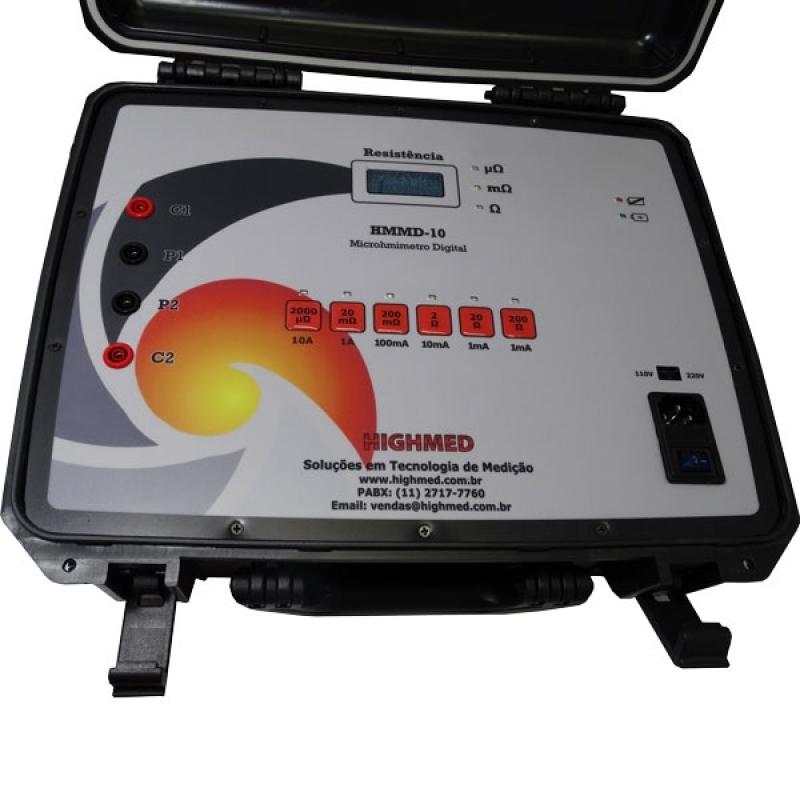 Microhmímetro Digital Portátil 200a Itaim Bibi - Microhmímetro e Ponte Kelvin Digital 10 a