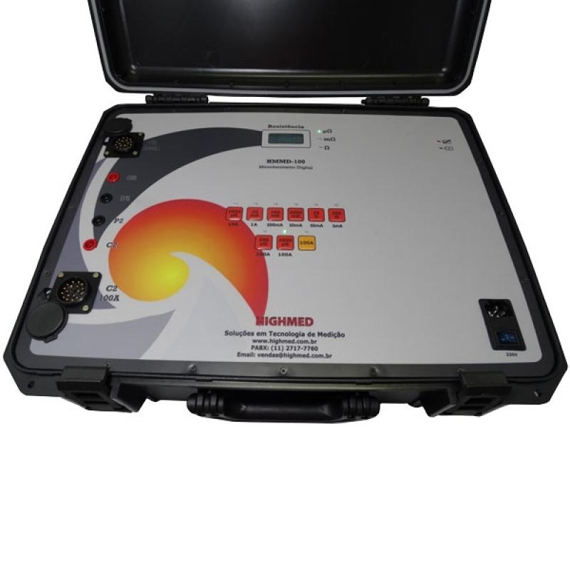Microhmímetro Digital Portátil Preço Pilar - Microhmímetro e Ponte Kelvin Digital 10 a