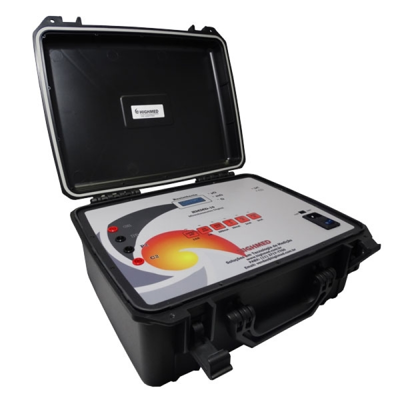 Onde Encontro Microhmímetro Digital Portátil 200a Lages - Microhmímetro e Ponte Kelvin Digital 10 a