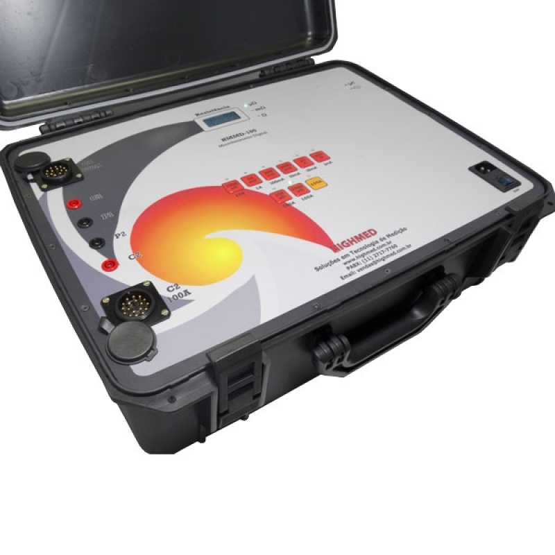 Quanto Custa Microhmímetro Digital 10 a Microhm 10i Santa Inês - Microhmímetro e Ponte Kelvin Digital 10 a