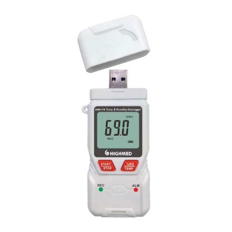Registrador de Temperatura Portátil Imirim - Registrador de Temperatura Pt100