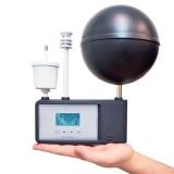 termômetro de globo e bulbo úmido